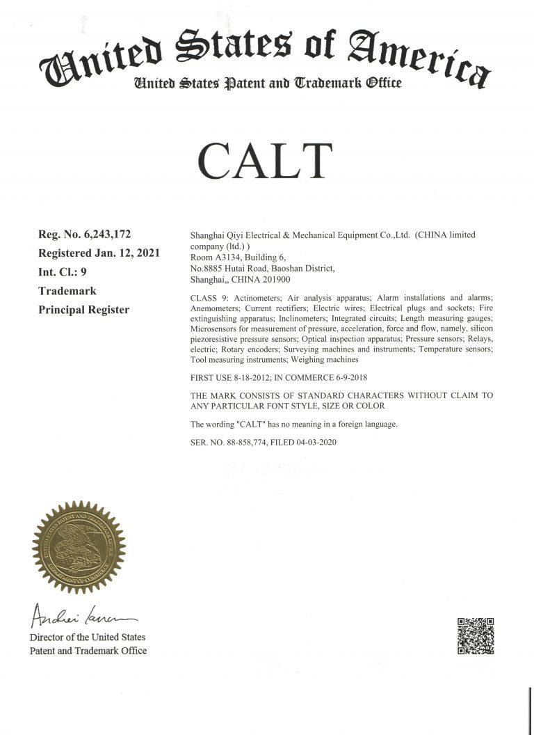 CALT美国商标